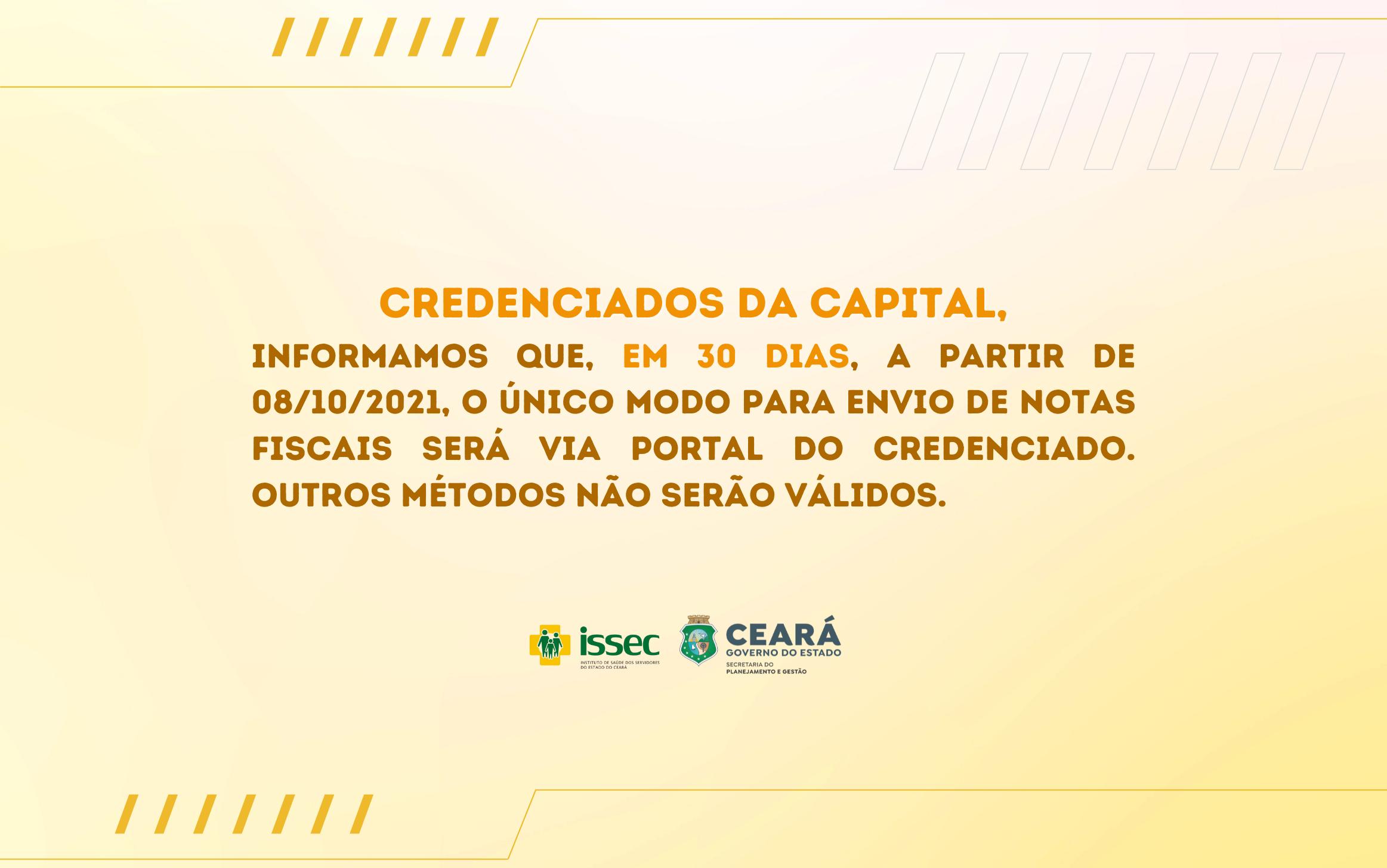 Atenção, credenciados da capital!